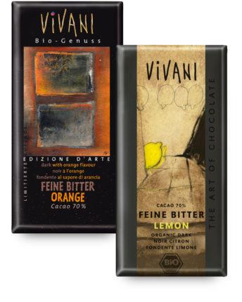 Особенная упаковка шоколада Vivani